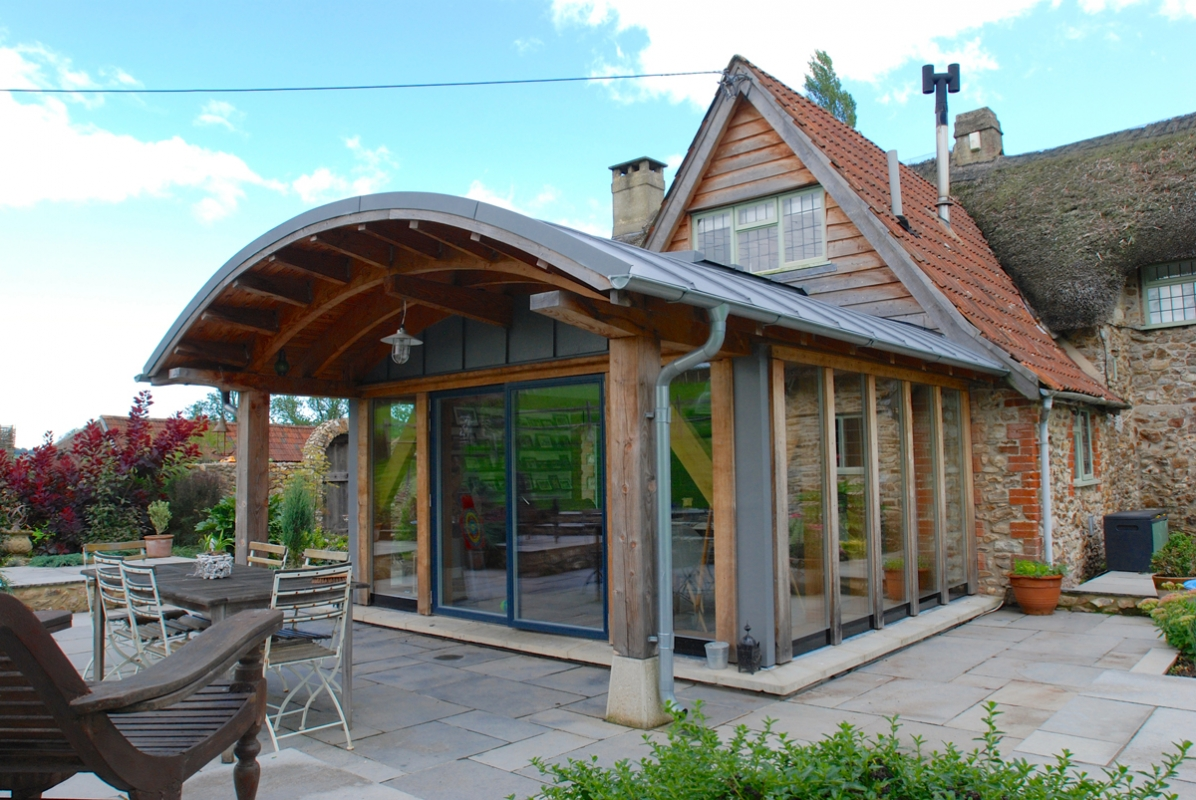 Curved Roof Douglas Fir Extension Projects Services